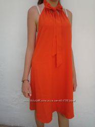 оранжевый сарафан батал xl-4xl 20