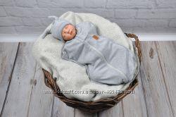 Пеленка-кокон для новорожденного на молнии от 0 до 3 мес