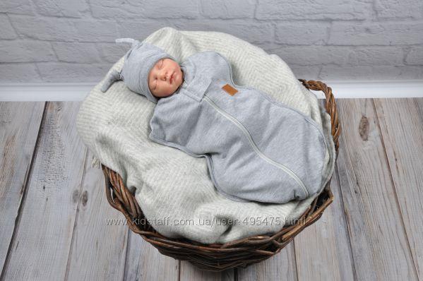 Пеленка-кокон для новорожденного на молнии от 0-3 3-6 мес