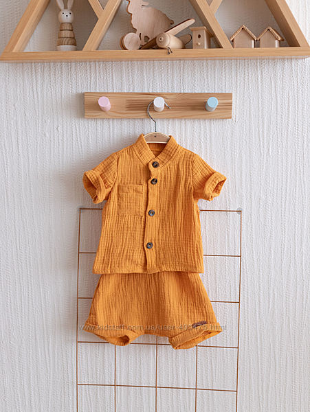 Муслиновая рубашка с шортами Ned
