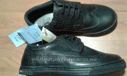 Туфли кожаные классика черные на мальчика F&F Kids