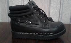 Ботинки школьные кожаные на девочку F&F school Full Grain Leather