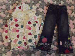 комплект меховушка и джинсы CRAZY8 на 3-5 лет рост 98-104см