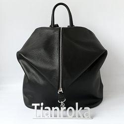 Кожаный рюкзак трансформер, 5 цветов. Италия