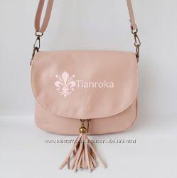 Удобная кожаная сумка кроссбоди среднего р-ра, Италия. 3 цвета в наличии