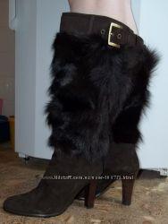 Натуральные зимние сапоги одеты один раз 24, 5 см