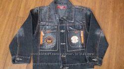 Крутая куртка, ветровка, пиджак джинсовый на рост 110-116 см