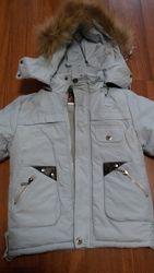 Пуховик куртка зимняя рост 122
