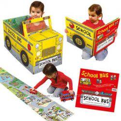 Книга-машинка на английском, школьный автобус