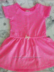 Розовое платьеце на принцессу 3-4года