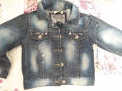 Джинсовая куртка для девочки, 92разм.