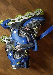 Ролики бу Explore Activa Boy р.35-38 черно-синие.