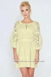 Платье женское льняное желтое Nenka. р. 38 м