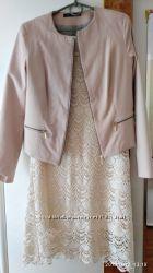 Вязаное платье Pimkie и жакет Mohito в размере L-XL