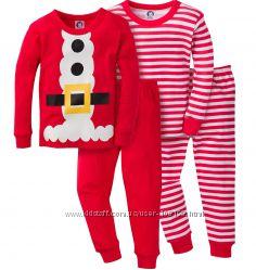 Новогодние пижамки Gerber в наборе 2 шт. 12, 18 мес