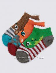 веселые носочки M&S 36-39, комплект из трех