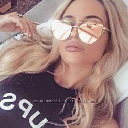 Солнцезащитные женские зеркальные очки Диор копия Dior