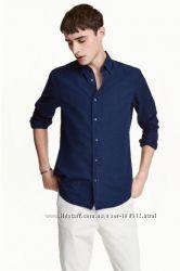 Новая рубашка джинс котон H&M размер Л по распродаже