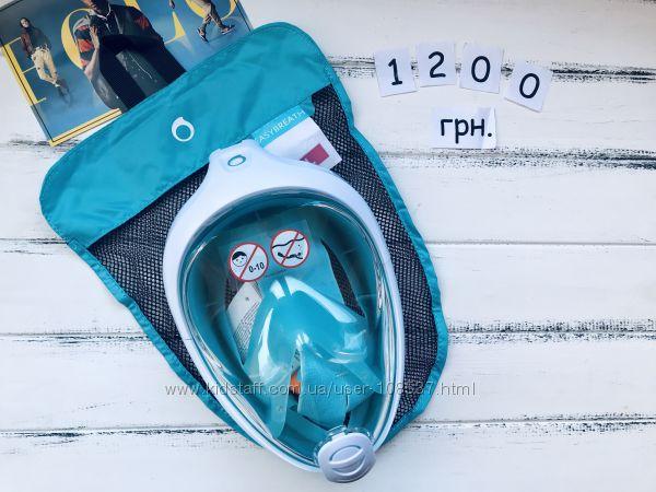 Оригинальная полнолицевая маска Easybreath для снорклинга tribord Subea
