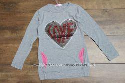 Удлиненный свитер, туника для девочки. Польша.