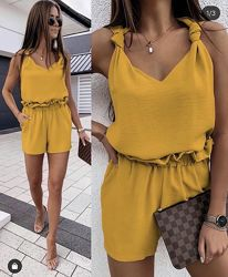 Костюм летний шорты и блузка