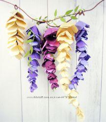 Бумажные цветы Visteria