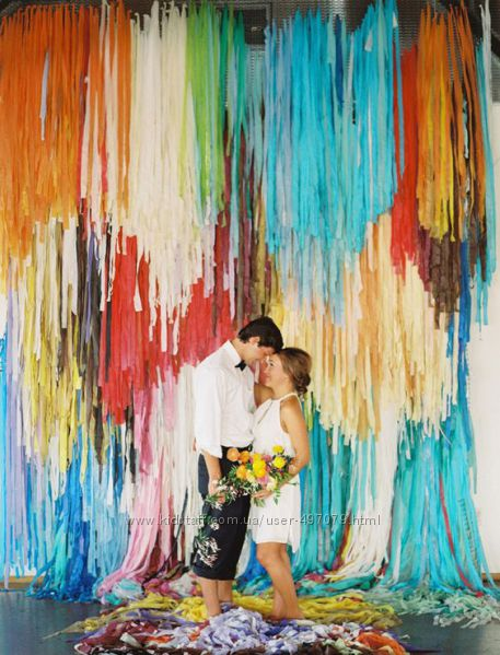 Гирлянда Тассел для свадебной фотозоны.