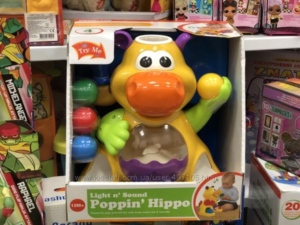 Игрушка - Гиппопотам жонглёр звук Kiddieland
