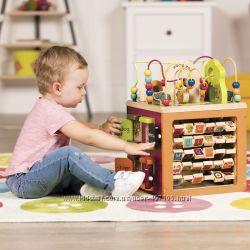 Развивающая деревянная игрушка - Зоо-куб Battat