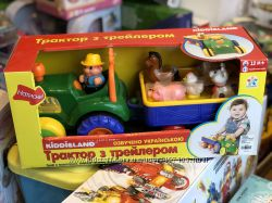 Игрушка на колесах - Трактор с трейлером  украинский