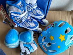 Набор роликовых коньков шлемзащита 30-33 от8 17, 5 смм