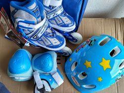 Набор роликов от 17 см. шлем защита сумка