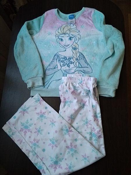 Плюшевая пижама Дисней.128-134см