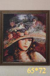 Картина Бабушкина Шляпа вышита крестиком