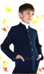 Теплые вязаные полушерстяные кофты кардиганы жилетки свитера для мальчиков.