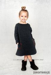 Теплые вязаные платья туники сарафаны для модниц