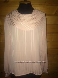 Блуза пудра, нюд с красивым воротником. Новая