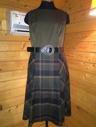 Платье миди в клетку в шотландском стиле. Новое. Модель 2020