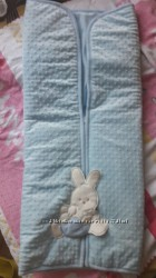 Одеяло-конверт голубого цвета Bebelinna Турция