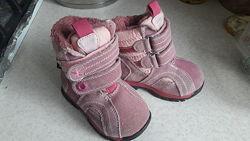 Зимние ботинки для девочки One step замша 100