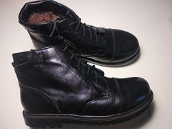 Зимние кожаные ботинки Braska на меху