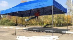 Раздвижной шатер 3х6 м. Белый металл. 3 расцветки.