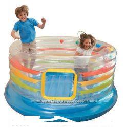 Детский батут Intex Jump-O-Lene Transparent Ring Bounce. 48264