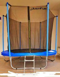 Батут Just Fun 305 см Blue сетка внутренняя  лесенка. Польша. Ka
