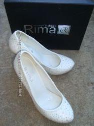Туфли женские белые Rima