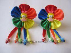 резинки для волос в радужной цветовой гамме