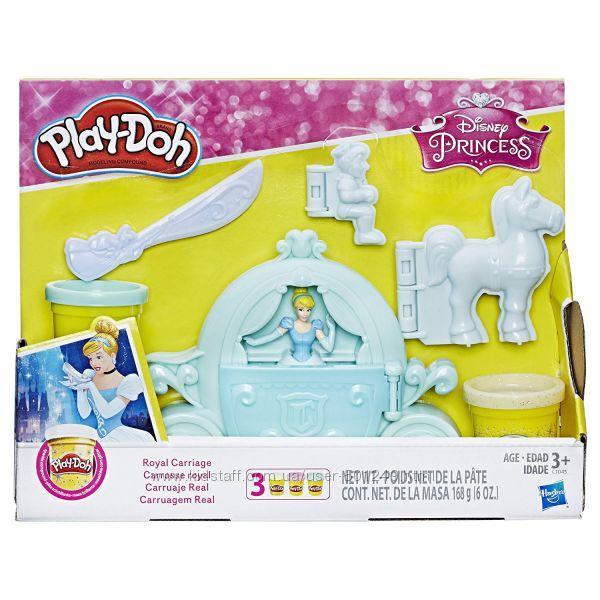 Королевская коляска Play Doh с изображением Золушки-принцессы Диснея