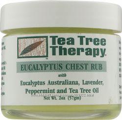 Противопростудный бальзам натуральный с маслами Tea Tree Therapy США