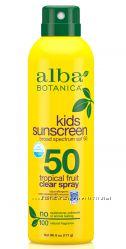 Солнцезащитные средства для детей от 6 месяцев SPF 40-50 Alba Botanica США