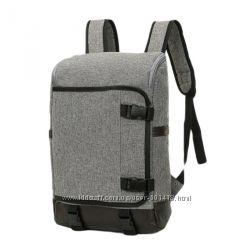 Серый школьный городской спортивный туристический рюкзак